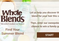 Whole Blends Find Your Blend Sweepstakes -