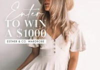 Esther And Co. $1,000 Gift Card Giveaway