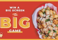 Wings Over Big Screen For The Big Game Sweepstakes