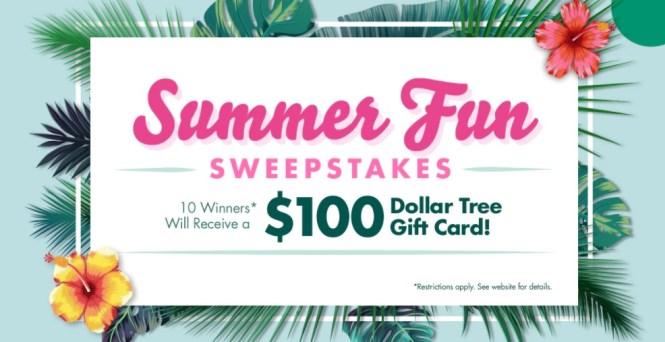 Dollar Tree Summer Fun Sweepstakes