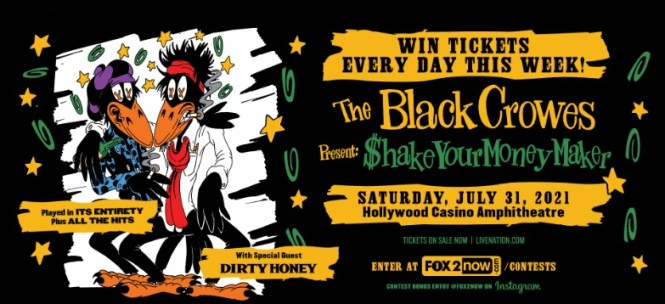 Black Crowes At Hollywood Casino Amphitheatre Sweepstakes
