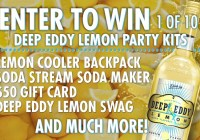 Deep Eddy Vodka Lemon Day Sweepstakes