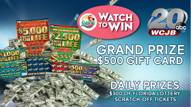 Florida Lottery And WCJB Week Of Life Watch-to-Win Sweepstakes - Win Gift Cards.