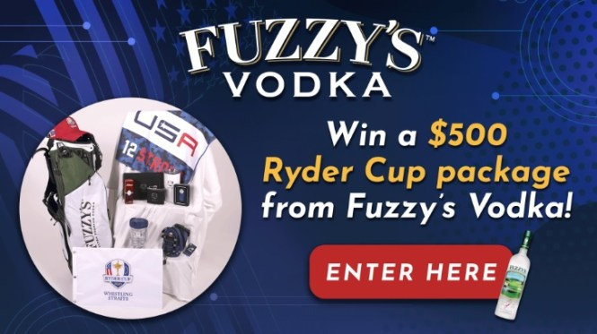 Fuzzys Vodka Ryder Cup Swag Bag Sweepstakes