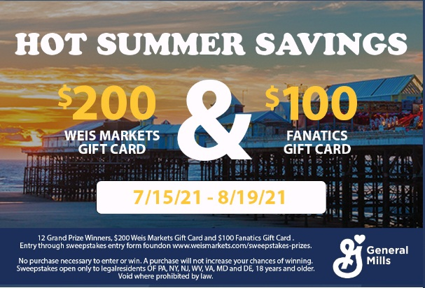 Hot Summer Savings Sweepstakes - Win Gift Card.