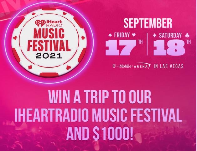 IHeartMedia And Entertainment IHeartRadio Music Festival Flyaway Sweepstakes.