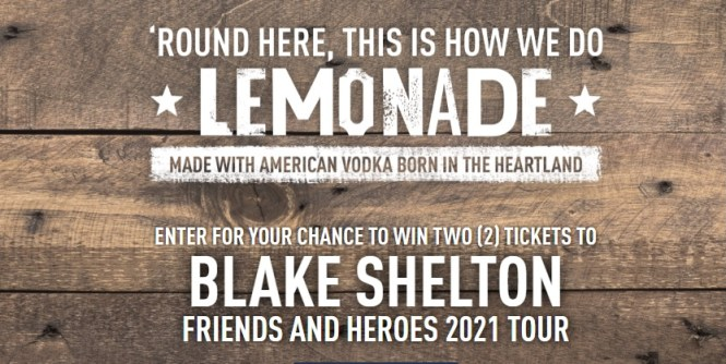 Smithworks Vodka Blake Shelton Friends And Heroes Ticket Sweepstakes