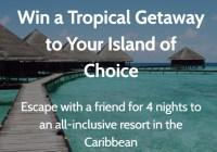 Tropical Getaway to Your Island Sweepstakes