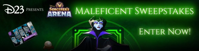 Disney Sorcerer Arena Maleficent Sweepstakes