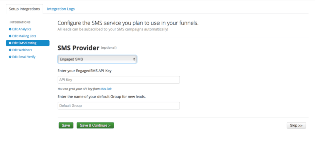 Engaged SMS and Contest Domination Integration