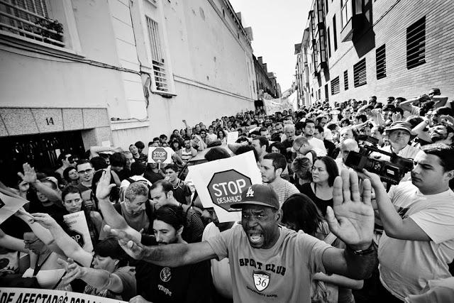 Primer StopDesahucios en Madrid