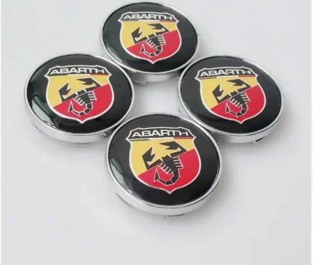 Wish Pcs Mm Abarth Car Wheel Center Caps Emblem Wheel Center Cover Hub Wheel Trim Cap Hub Cap Badges Auto Accessories Fsc
