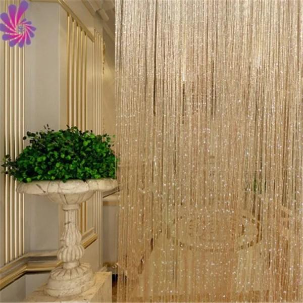door curtain room divider shiny tassel