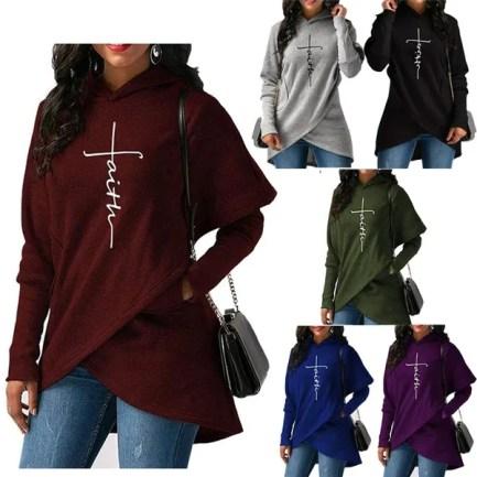 Pocket, Casual Hoodie, pullover hoodie, letter print