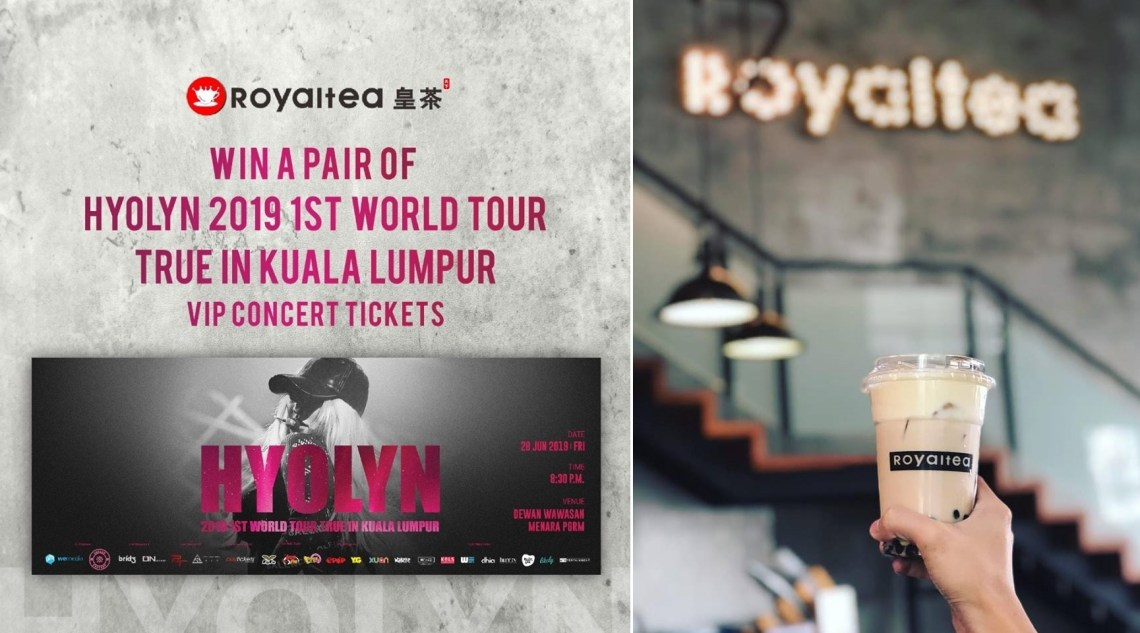 RoyalTea皇茶 Is Giving Away VIP Concert Tickets To Hyolyn's