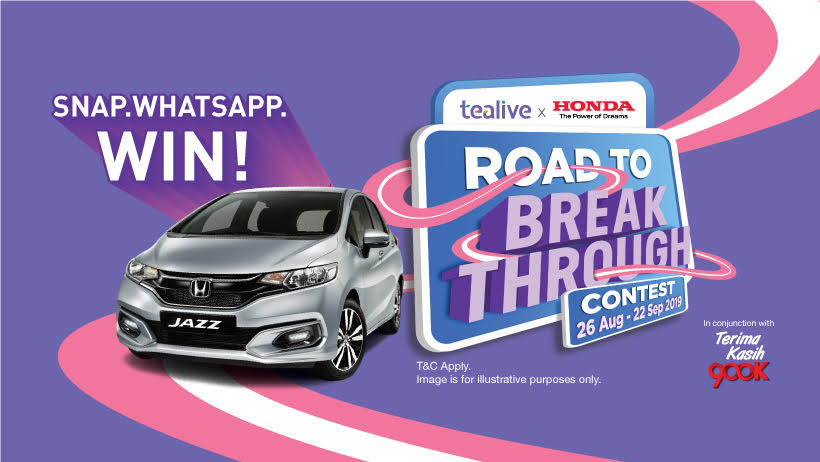 You Could Win A New Honda Jazz Or 1-Year Worth Of Tealive In