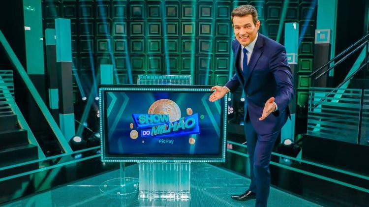 Celso Portiolli is the presenter of the new 'Show do Milhão' - Lourival Ribeiro/SBT - Lourival Ribeiro/SBT