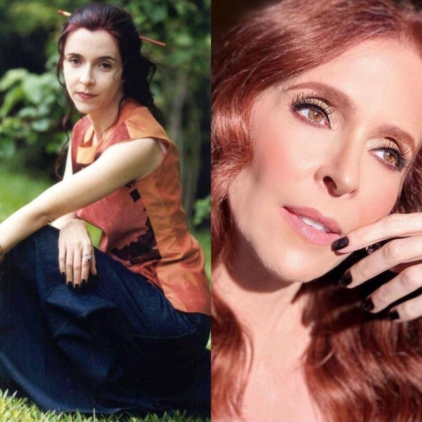 """Deborah Evelyn lived Virginia in """"an angel fell from heaven"""" - Memória Globo / Playback / Instagram / Guilherme Melima"""