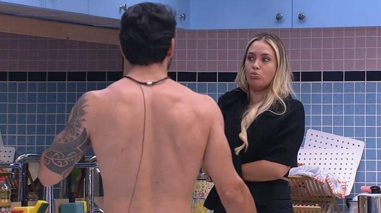 BBB 21: Rodolffo e Sarah criticam brothers por confusão de compras da xepa - Reprodução/Globoplay - Reprodução/Globoplay