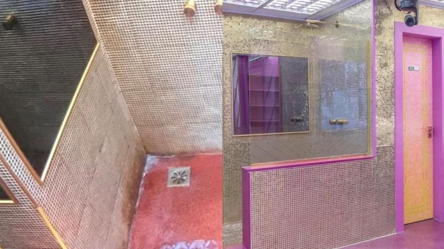 BBB 21: banheiro sujo x banheiro limpo - Reprodução/Globoplay