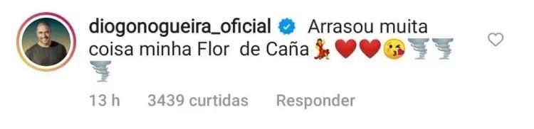 Diogo Nogueira se declara a Paolla  - Reprodução/Instagram - Reprodução/Instagram