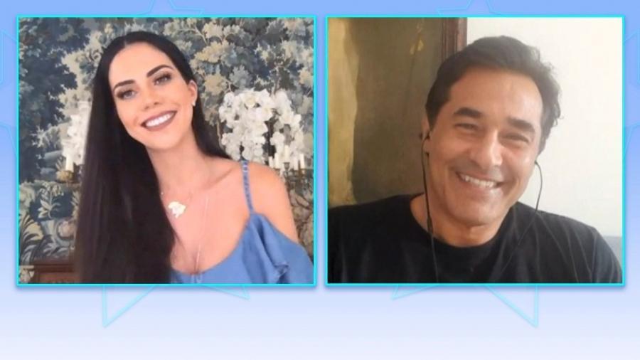 """Luciano Szafir é entrevistado por Dani Albuquerque no """"Sensacional"""", da RedeTV!, hoje - Divulgação"""