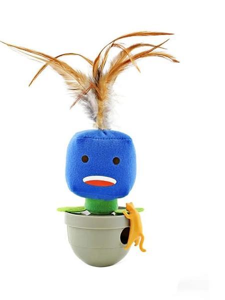 Brinquedo dispenser para ração ou petisco Cat Emotion Feliz Amicus (R$ 69,90) na Cobasi  -  Divulgaçao/Cobasi -  Divulgaçao/Cobasi