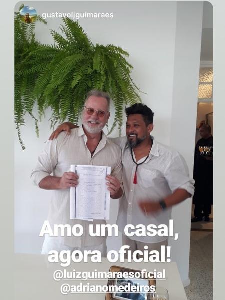 Luiz Fernando Guimarães e Adriano Medeiros - Reprodução/ Instagram