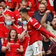 Cristiano Ronaldo is thrilled after scoring 1st goal in the duel between Manchester United and Newcastle - Phil Noble/Reuters