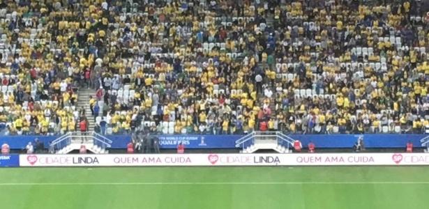 jogo do brasil contra o paraguai tem propaganda da prefeitura de joao doria na arena corinthians 1490753070734 615x300 - Com novo brilho de Neymar, Brasil vence Paraguai e se classifica para Copa