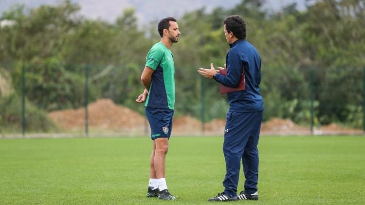 Nenê and Fernando Diniz had a good relationship, but the coach didn't see the need for a reinforcement at Fluminense - Lucas Merçon/Fluminense FC - Lucas Merçon/Fluminense FC