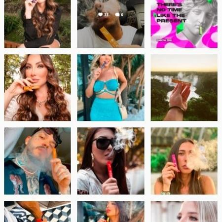 Photos of electronic cigarettes shared on social networks - Replay/Instagram - Replay/Instagram