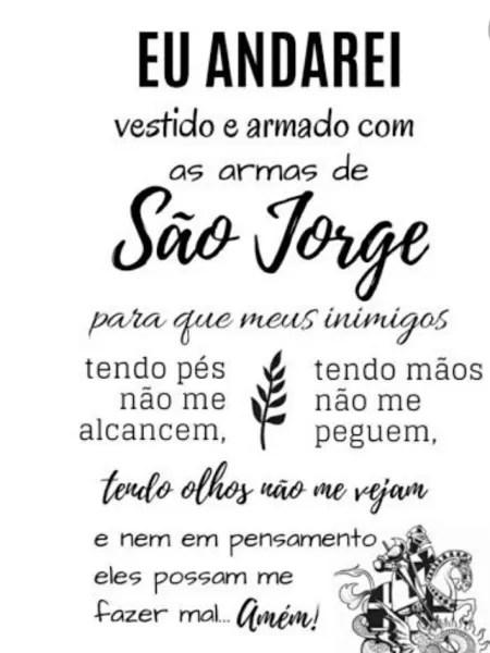 Post sobre São Jorge feito por Letícia Brazão em suas redes sociais.  - Reprodução - Reprodução