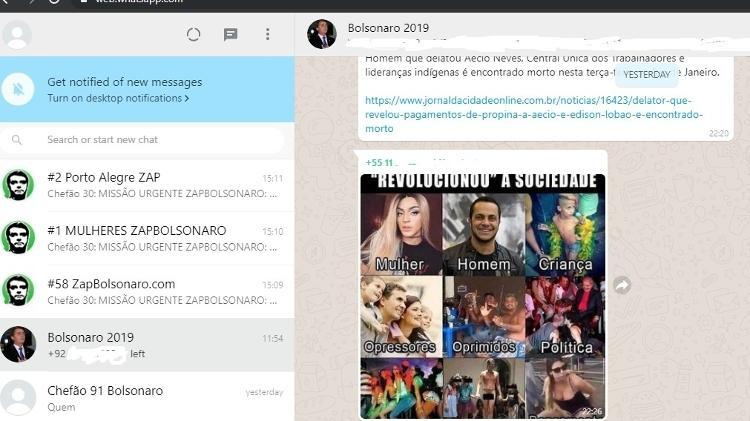 19set2019   grupo bolsonarista ativo no whatsapp com participacao de contas com caracteristicas de robo 1568904844815 v2 750x421 - Site diz que rede de fake news com robôs pró-Bolsonaro mantém 80% das contas ativas