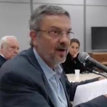 20.abr.2017 - Antonio Palocci depõe em Curitiba