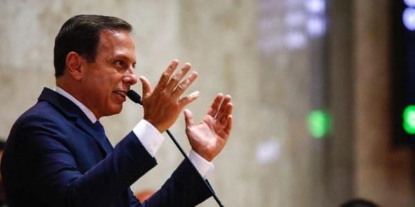 João Doria (PSDB) durante a cerimônia de sua posse e dos 55 vereadores eleitos, na Câmara Municipal de São Paulo