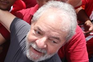 Lula durante ato no Comperj, em Itaboraí (RJ), nesta quinta