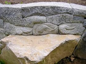 Eric Contey Stonework - Jeness wall, bench and flourishes