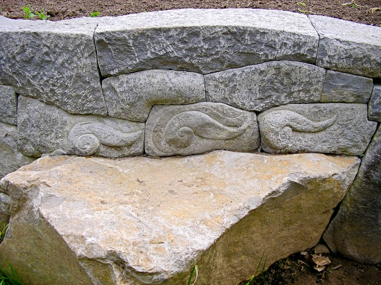 Eric Contey Stonework - Jeness wall, bench and flourishes