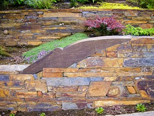 Eric Contey Stonework: North slope Mt. Tabor wall