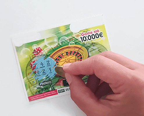 Impressão segura e de valor - raspadinhas