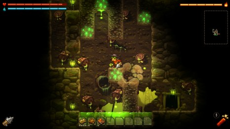You'll need to take care of enemies as you explore the depths of the mine.
