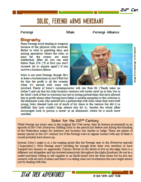Soloc - Ferengi Arms Merchant - Preview