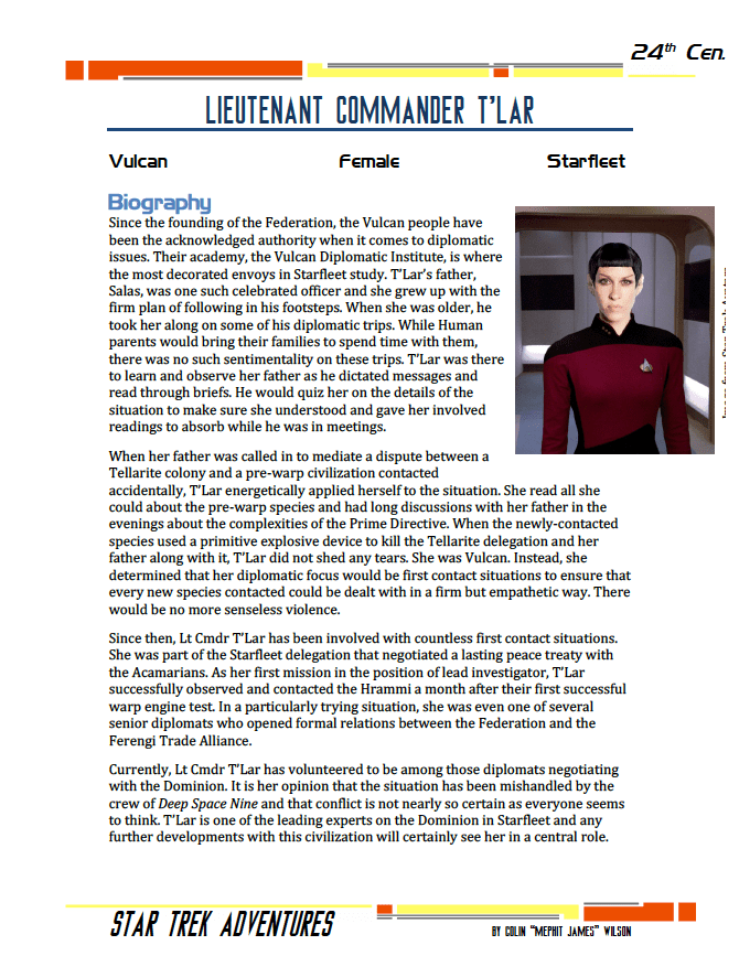 T'Lar - First Contact Specialist - Preview