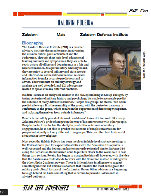 Haldrin Poleira - Zakdorn Defense Institute - Preview