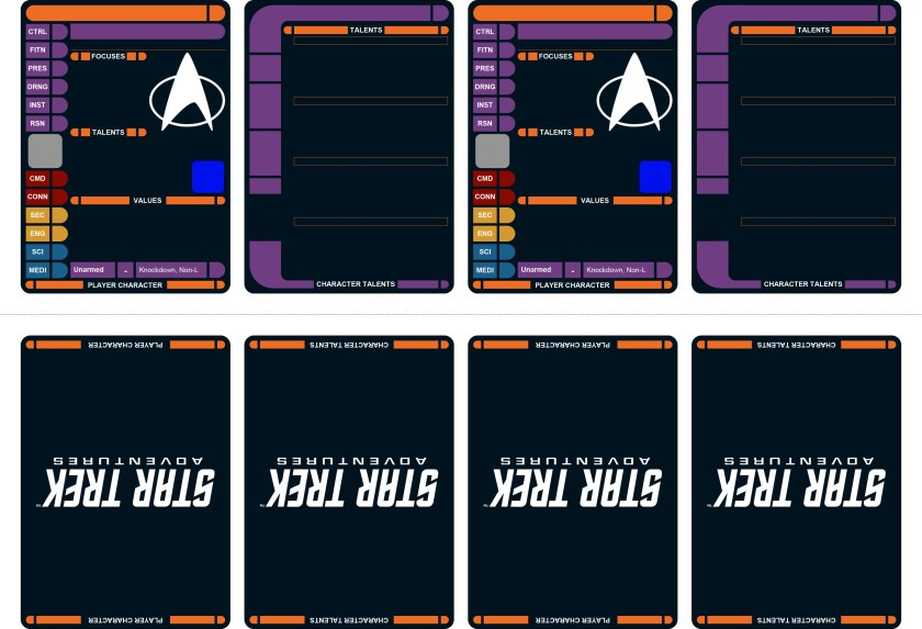 STA CARDS - Core set (PCs, SCs, Starfleet NPCs)-1
