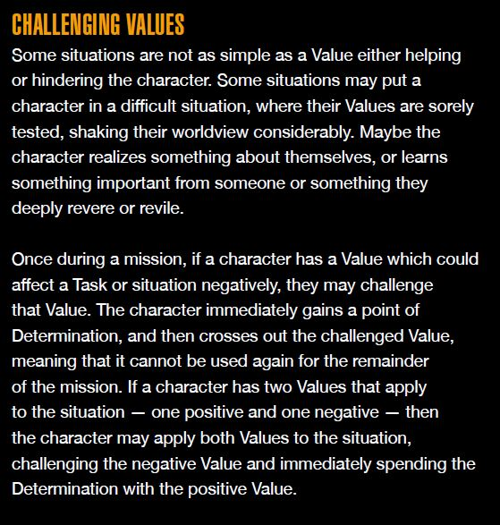 challenging values