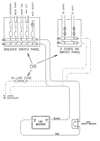wiring diagram for older boat  continuouswave