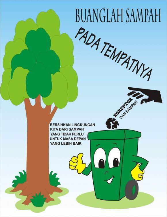 contoh poster lingkungan tentang sampah
