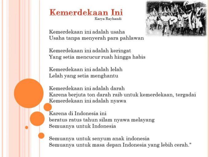 Contoh puisi kemerdekaan indonesia 1945